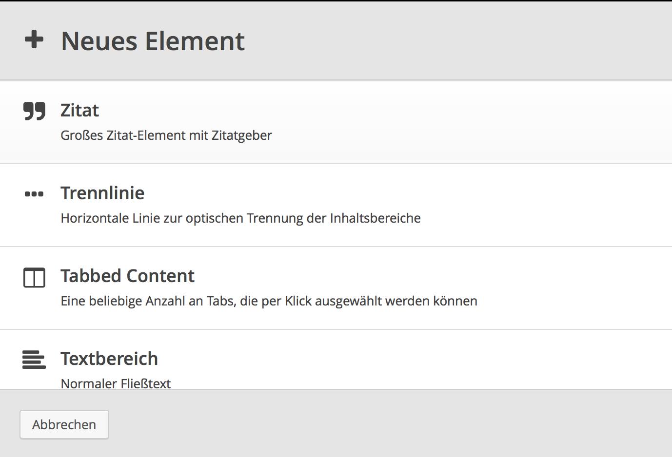 Element-Auswahl 3